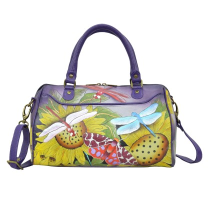 Anna by Anuschka Leather Convertible Satchel - Toscan Paradise