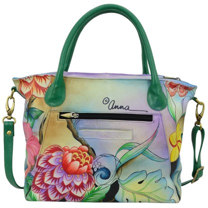 Anna by Anuschka Leather Slouch Tote - Whimsical Garden
