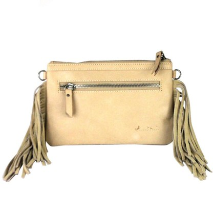 Montana West Genuine Leather Clutch Handbag Cowboy Pictures Tan Rodeo Collection 5