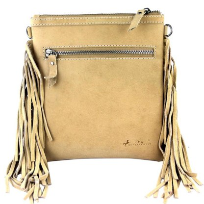 Montana West Genuine Leather Handcrafted Crossbody Handbag Tan Rodeo Collection 6