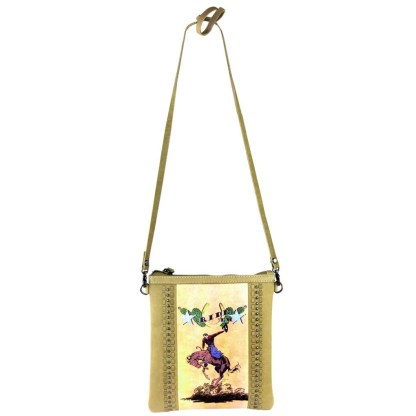 Montana West Genuine Leather Handcrafted Crossbody Handbag Tan Rodeo Collection 8