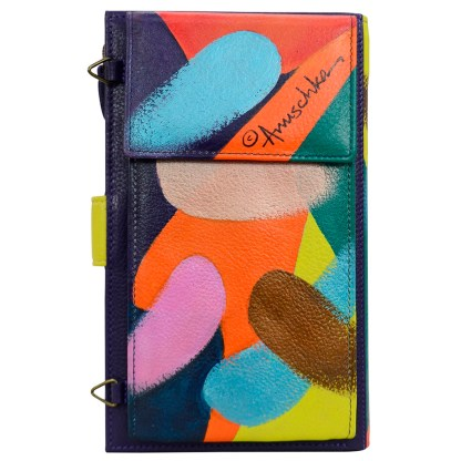 Anuschka Leather Large Smart Phone Case & Wallet Bag Painterly Palette