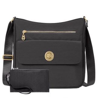 Baggallini Antalya Top Zip Flap Crossbody Bag , Charcoal