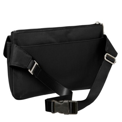 Baggallini Slim Waist Pack Belt Fanny Handbag , Black