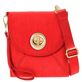 Baggallini  Athens Cross Body - RFID Wallet Handbag -Travel Companion, Hibiscus