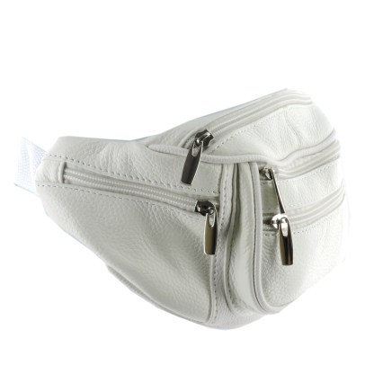 Silver Fever Genuine Leather Fanny Pack Waist Bag Phone Holder  Money Belt