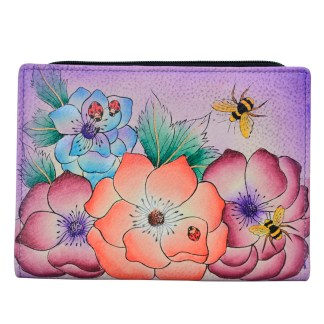 Anna by Anuschka Leather By Fold Wallet Clutch Paradise Found