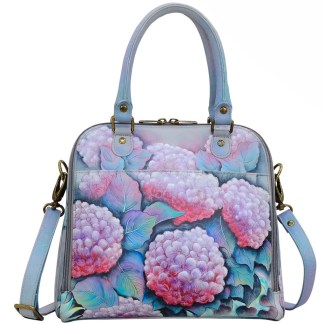 Anuschka Leather Zip Around Convertible Satchel Hypnotic Hydrangeas