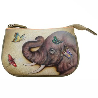 Anuschka Leather Ladies Coin Pouch Meedium Gentle Giant