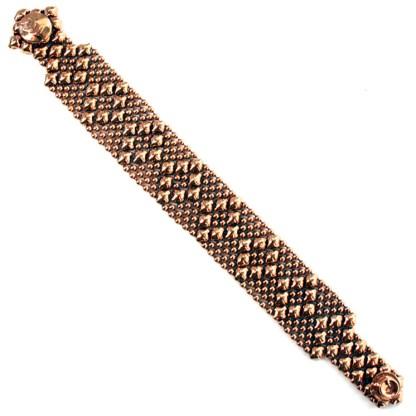 Sergio Gutierrez Liquid Metal Bracelet Nerrow Diamond Pattern Rose Gold size 8- fits wrist up to 7.5