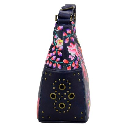 Anuschka Classic Genuine Leather Handpainted Hobo Side Pockets Magical Night [CLONE]