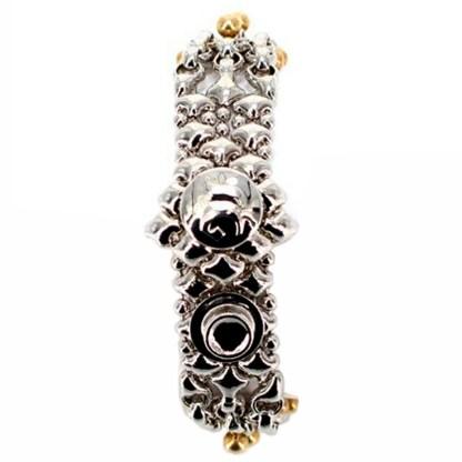 SG Liquid Metal Chain Mesh Bracelet with 24 K Gold Pins by Sergio Gutierrez