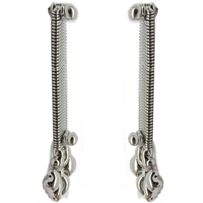 SG Liquid Metal Snake Chain Earrings - by Sergio Gutierrez