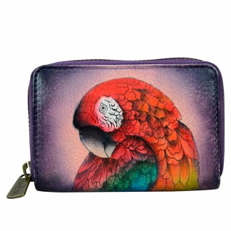 Anuschka Leather Multiple CC Busin. Card Wallet Rainforest Roylty