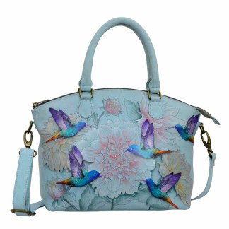 Anuschka Gen Leather Medium Convertible Satchel Hand Painted Floral Fantasy [CLONE]