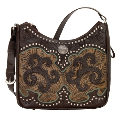 American West Leather - Shoulder Handbag Hobo Sand - Annie's Secret - Concealed Carry [CLONE]