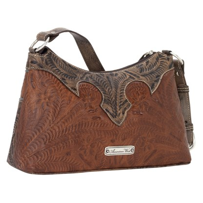 American West Leather - Shoulder Handbag Hobo Brown - Annie's Secret - Concealed Carry [CLONE]