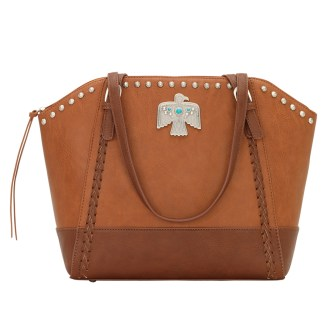 American West Bandana Zip Top Shoulder Handbag Medium Brown - Concealed Cary [CLONE] [CLONE]
