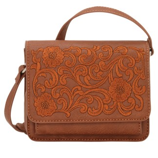 American West Bandana Crossbody Wallet Bag Purse  Tan - Shawnee