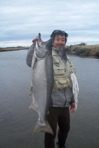 Fukutaro Hiraki catches his first King Salmon!