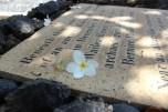 At Keawala'i Church, this Hawaiian woman was found buried in a canoe with many find things, while building the grand Wailea. Obviously a woman of importance, she was re-buried here, in a place of honor.