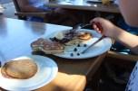 whale pancake, the bear pancake was WAY cuter though!