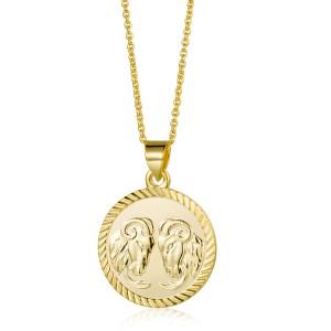 Collar Plata Medalla Zodiaco