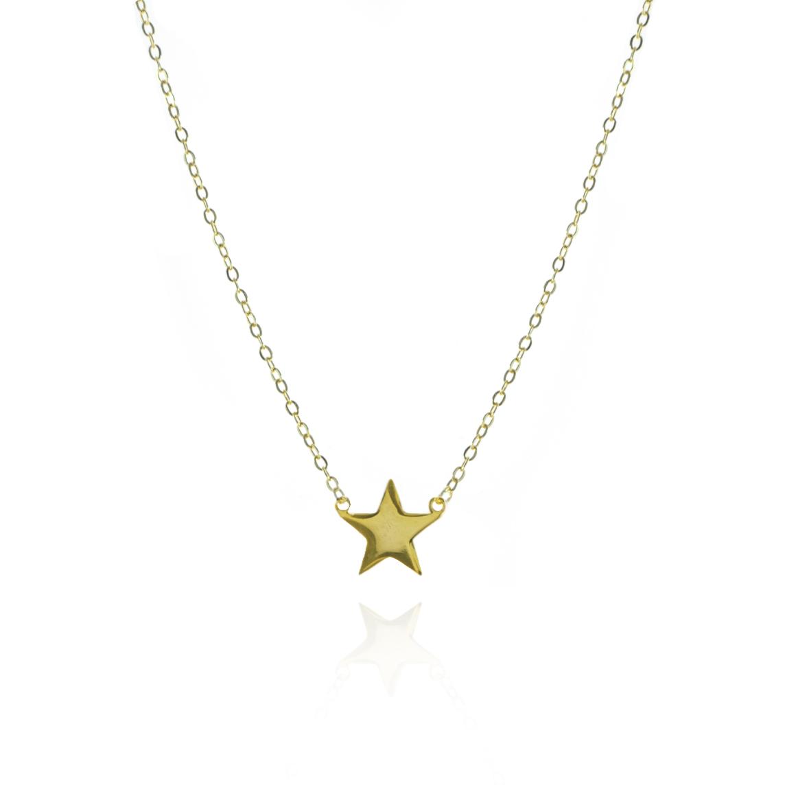 Collar Estrella Baño de Oro
