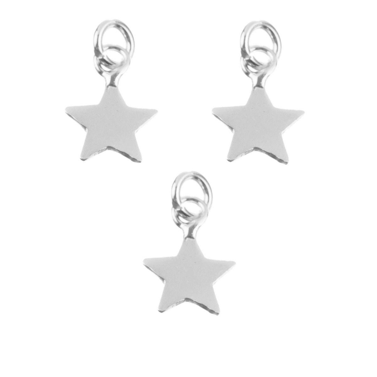 Charm estrella plata
