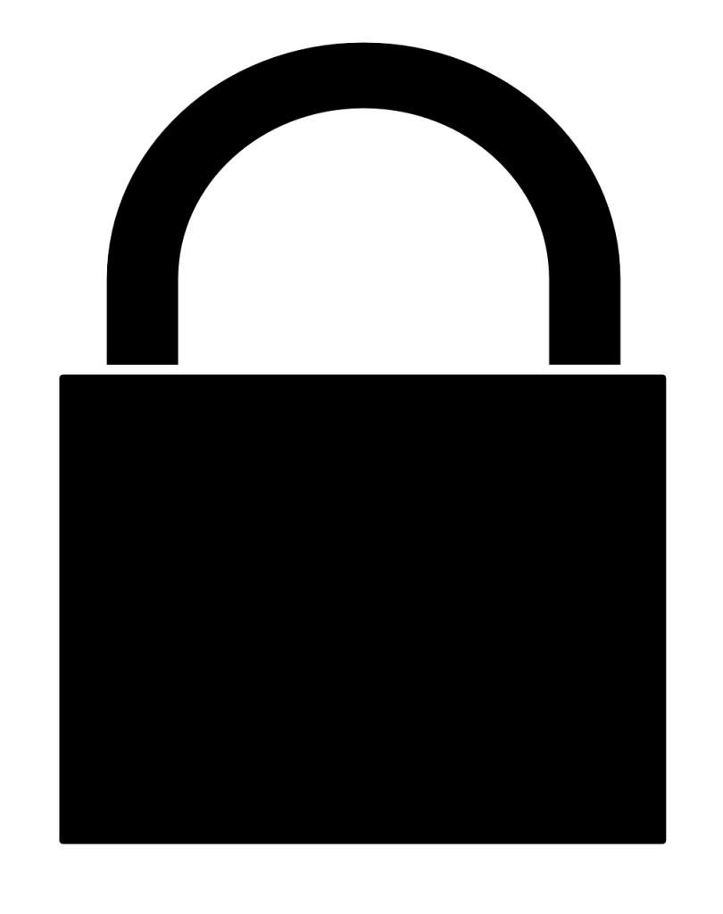 padlock, black, lock