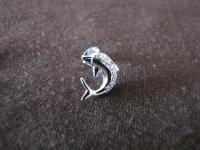 Silver Cubic Zirconia Dolphin Earrings - Silver Jewellery ...