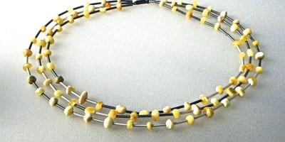 640 - Triple Butterscotch Amber Necklace