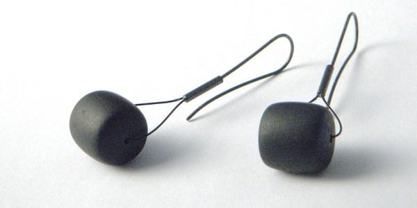 799 - Black Jade Tire Earrings