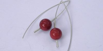 896 - 10mm Coral Earrings
