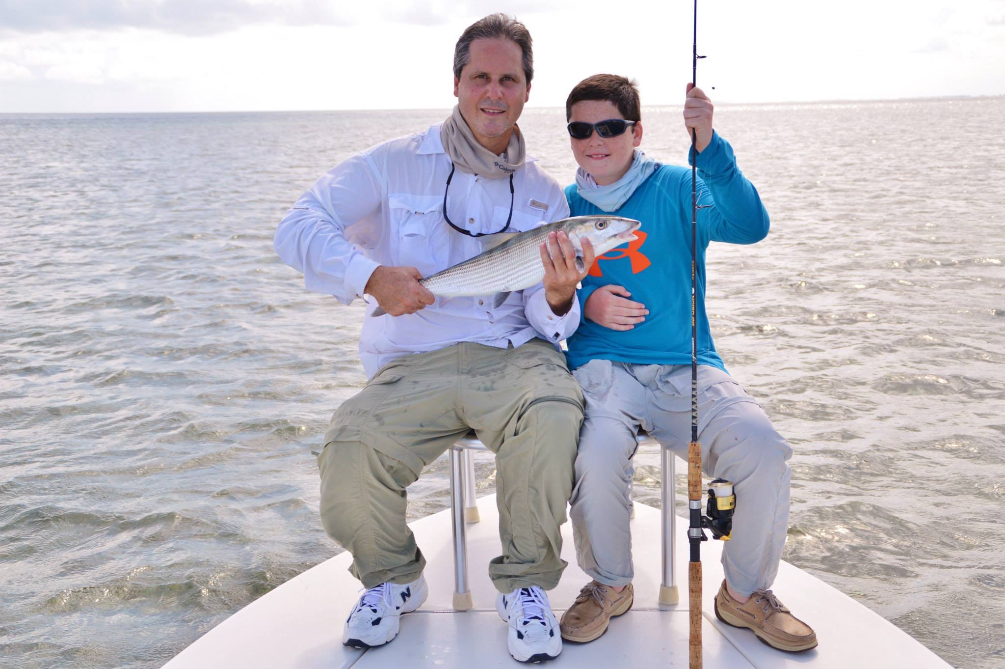 Fishing for tailing bonefish