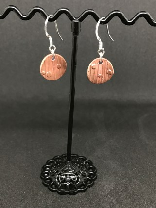 Copper 3 -Copper disk earrings and sterling silver earring hooks. £10 + post and packaging.