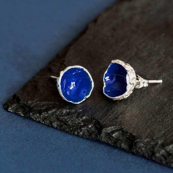 Silverkupe Blue Seed studs