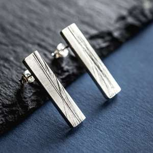 Silverkupe Grooves Earrings