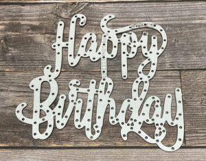 Happy Birthday Thinlits Die