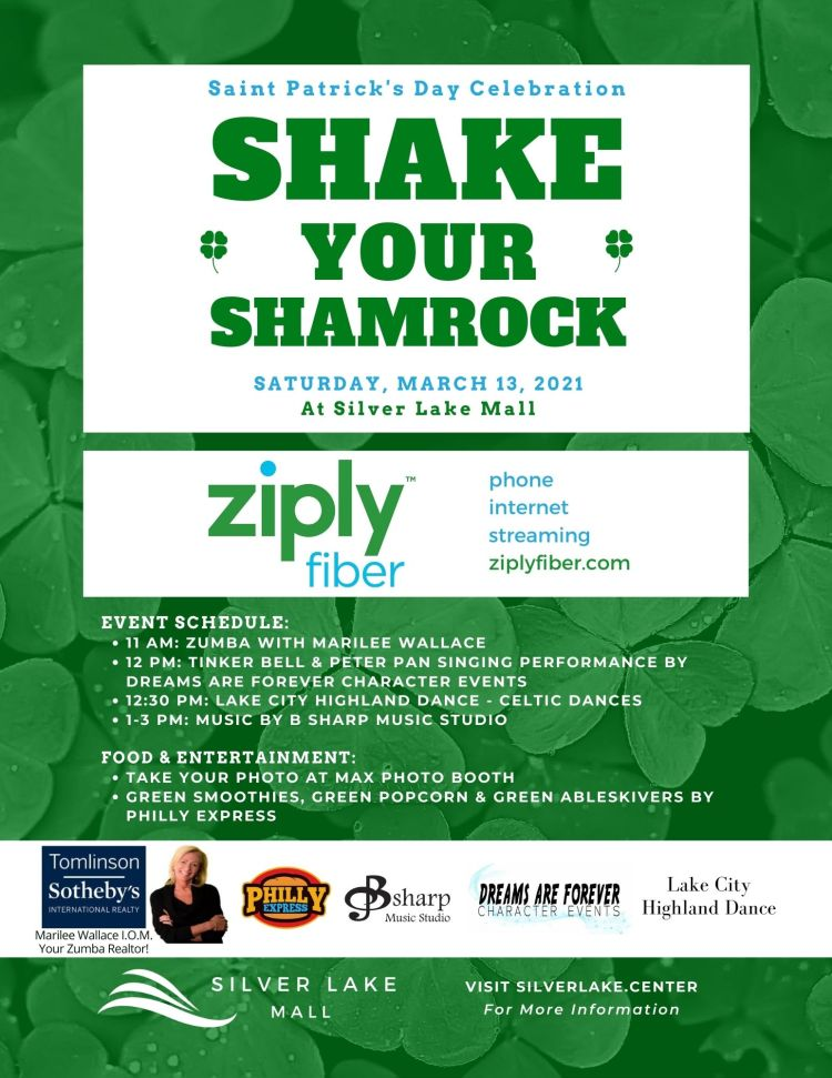 Shake Your Shamrock St. Patrick's Day Celebration at Silver Lake Mall.