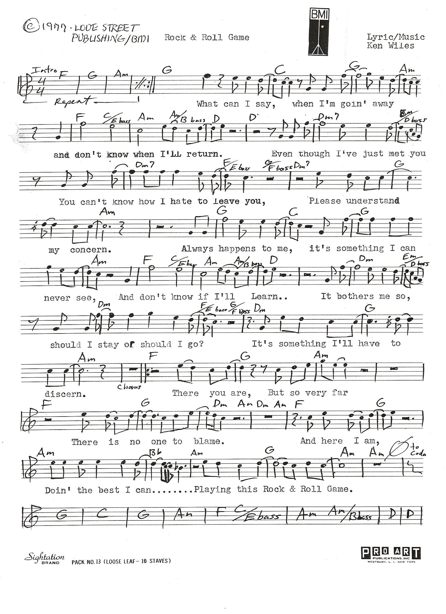 Lead Sheets From Silver Laughter S Rock Amp Roll Game The Silvers