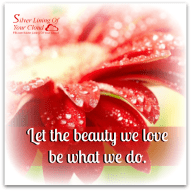 Let the beauty we love be what we do. ~Rumi