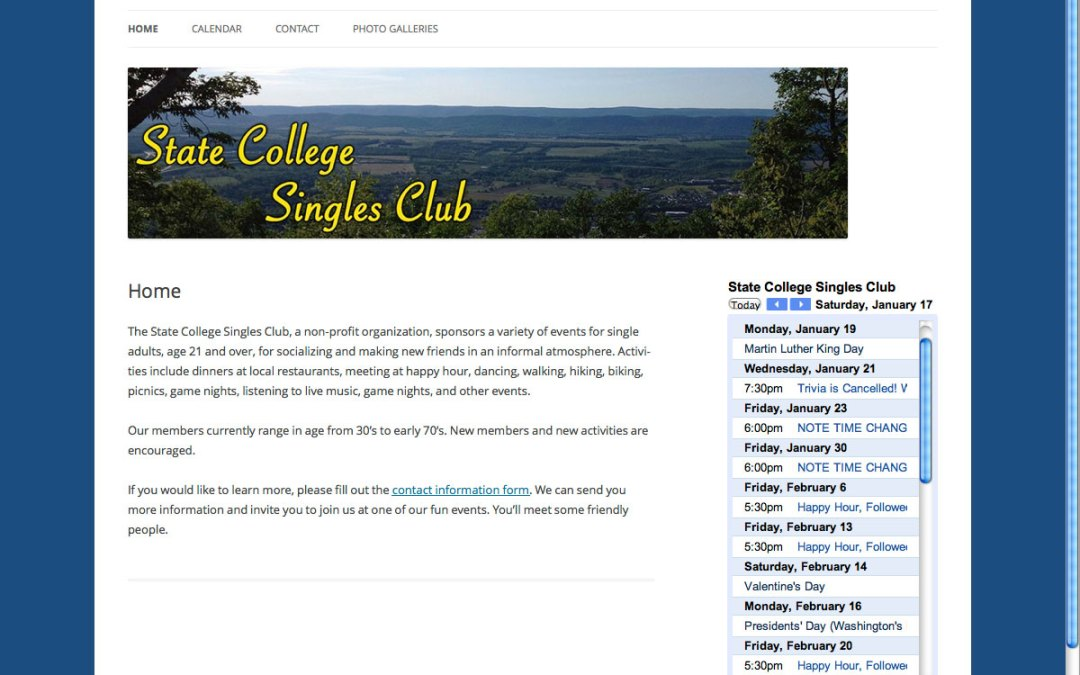 State College Singles Club