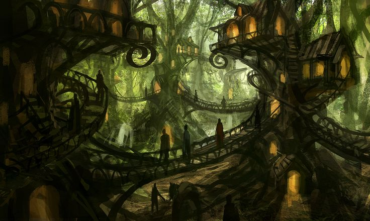 Image result for elven cities in the trees