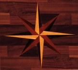 leona remodel wood floor star detail