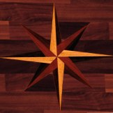 leona remodel wood floor star detail