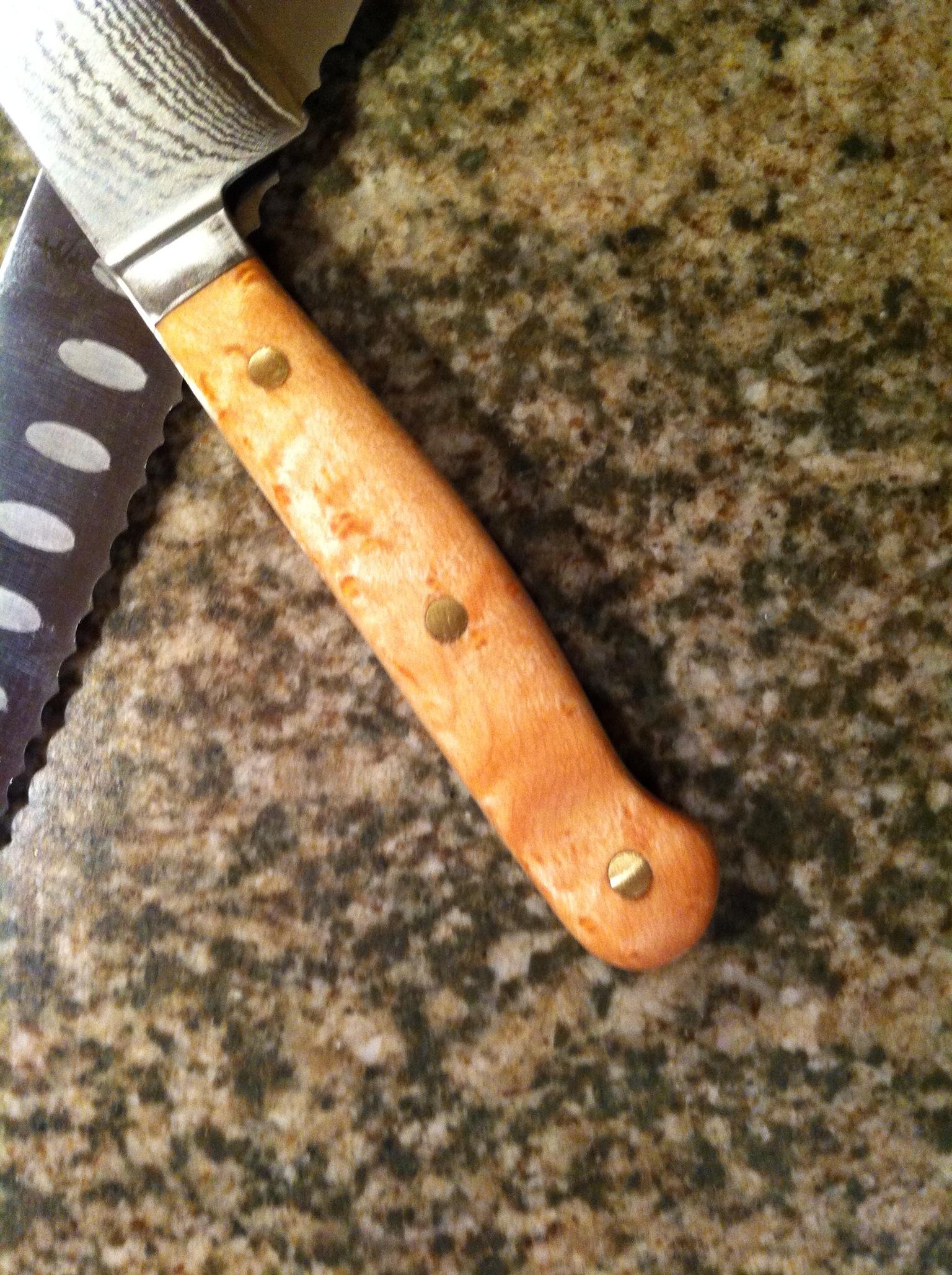 Kitchen Knives  Birds Eye Maple Handle  SilverPearl
