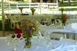 colorful table arrangements