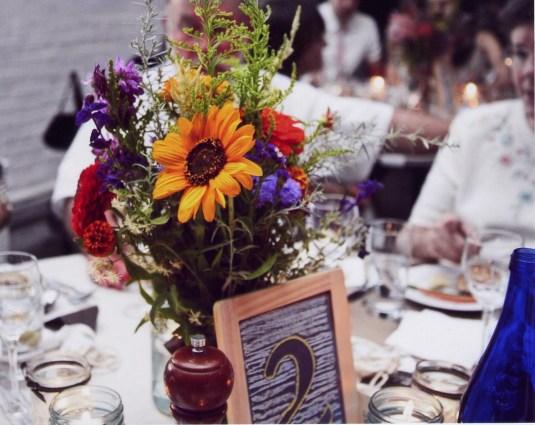 sunflower table arrangement