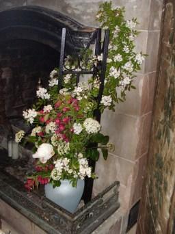 trellis with flowers
